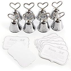 8 piezas de Campanitas Corazón - Meseros Boda