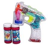 Set Blinkende Seifenblasenpistole Inklusive 2 Fläschen Seifenblasenflüssigkeit plus 1 Liter Seifenblasenflüssigkeit in der Nachfüllflasche *