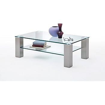 Tisch lifestyle4living Couchtisch Sofatisch Clubtisch Kaffeetisch Glastisch B//H//T ca 100//46//60 cm Wohnzimmertisch Sicherheitsglas Eiche Sonoma Salontisch