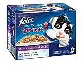 Felix So gut wie es aussieht Senior Katzenfutter 6er Pack (6 x 12 x 100 g) Beutel