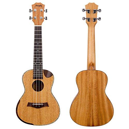 Preisvergleich Produktbild Mugig Ukulele Konzert Einzelwinkel Cutaway Roseholz mit 4 Saiten und Tasche (Konzert 23inch)