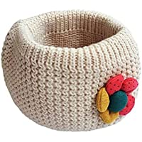 Sannysis® Bufanda niños; Invierno junta tórica de punto de lana de bebé bufanda (Beige)