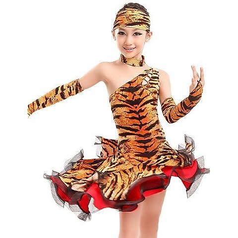 ZY Tuta da ginnasta/Abiti - Per donna/Per bambini - Ballo latino - Stampa animali - di Fibra di latte - Zebra/Costumi da tigre/Leopardata , zebra-xxl , zebra-xxl
