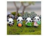 UHUA Fata e carina Mini Cute Panda Statue Miniature piante da vaso Bonsai Craft Micro Paesaggio Decorazioni fai da te (colorato)