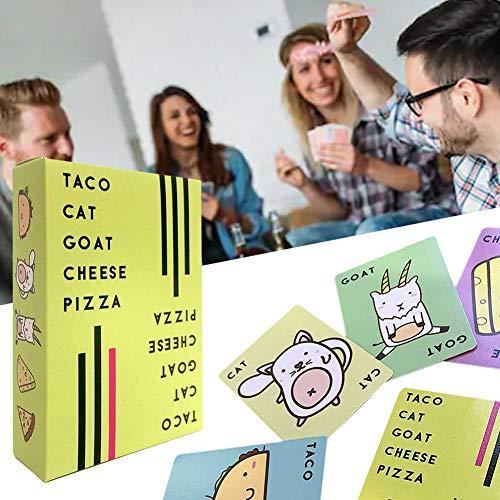 n-Ziegenkäse-Pizza-Spiel-Karte Party-Karte für Kinder und Erwachsene ()
