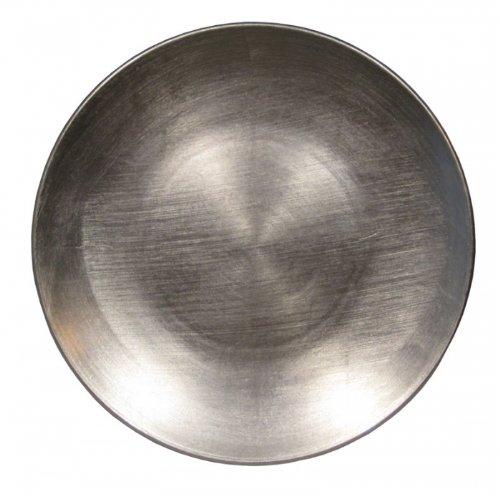 Kunststoff-Teller D25cm 6st. silber