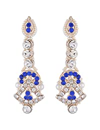 Bel-en-teno Blue & White Alloy Earring Set For Women - B00PY9XOM8