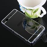 Huphant Coque Sony Xperia Z1 Compact Noir,Couverture Arriere PC Coque Miroir Plaque Cas, Placage Etui pour Telephone Miroir Exquis for Sony Xperia Z1 Compact Cas Armature en Metal