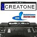 CREATONE X120M Rückfahrkamera mit Nachtsicht IR LEDs in Kennzeichenhalterung l 170° Weitwinkel-Objektiv