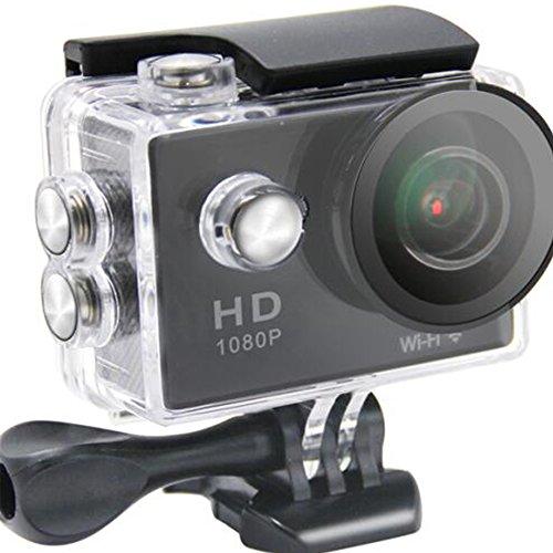 Topmountain fotocamera digitale impermeabile fotocamera azione 1080p, 170 gradi 2.0 tft dvr wifi fotocamera subacquea per il viaggio - nero