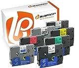 Bubprint 7 Schriftbänder kompatibel für Brother TZE 131 335 431 531 631 731 931 für P-Touch 1280 2430PC 2730VP 3600 9500PC 9700PC D400VP D600VP H100LB