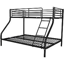 VidaXL - Struttura per letto a castello per bambini - Per letti da 200x140/200x90cm, in metallo e disponibile in 3colori Black