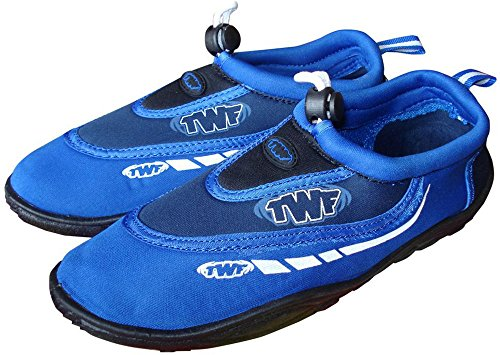 Big Orange - Scarpe acquatiche con grafica T.W.F., modello unisex, Blu (blu), UK Toddler 6
