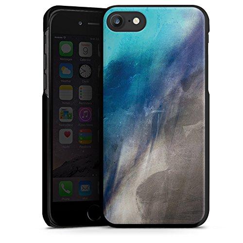 Apple iPhone X Silikon Hülle Case Schutzhülle Wasserfarbe Kunst Pinsel Hard Case schwarz