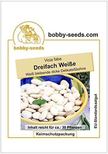 Bobby-Seeds Bohnensamen Puffbohne Dreifach Weiße Portion