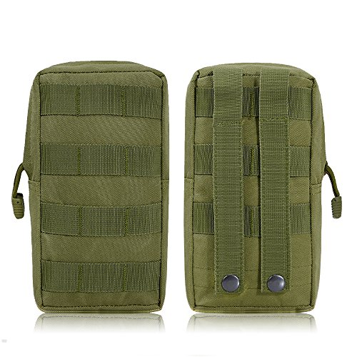 Airsson 2-Stück Molle Taschen Tactical Beutel Pouches Satteltaschen Wanderausrüstung (Shoulder Bag Ammo)