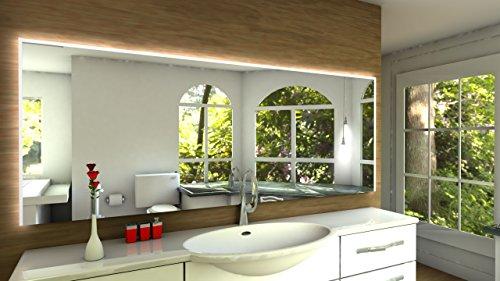 Laon Badspiegel mit LED Beleuchtung - B: 130 cm x H: 90 cm