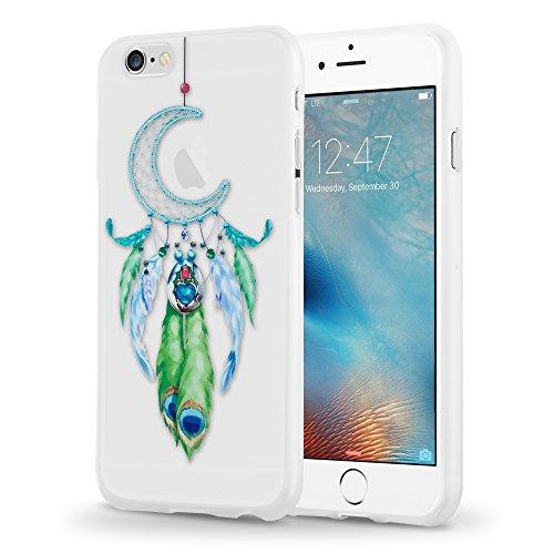 Preisvergleich Produktbild Cadorabo TPU Ultra Slim > Apple iPhone 6 / iPhone 6S < Silikon Hülle mit Motiv - Case Cover Schutzhülle Schale Bumper Handyschale im Design: MOND TRAUMFÄNGER GRÜN