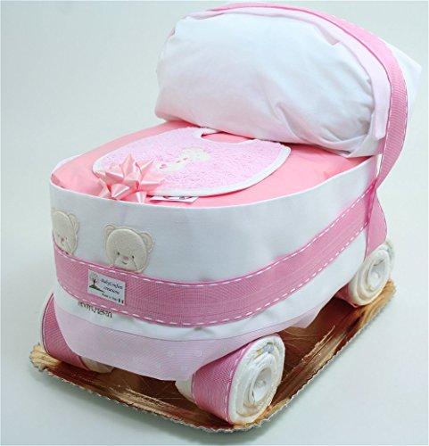 Tartas de pañales de bebé del carro Chicco Rosa