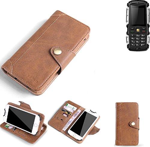 K-S-Trade Hülle für Jiayu F2 Schutz Hülle Tasche Handyhülle Schutzhülle Handytasche Wallet case Flipcase Cover Kunstleder Braun