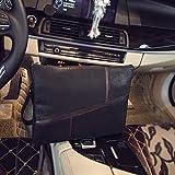 Cinturino in pelle PU borsetta portafoglio Business pochette con rigido per uomini, Nero
