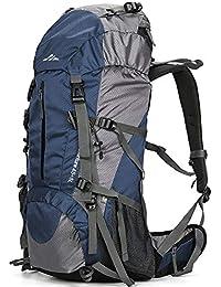 9abd64e5bcc04 Lukasai 50L Trekkingrucksack Wasserdicht Wanderrucksack Reiserucksack  Sportrucksack Fassungsvermögen aus Nylon-Gewebe mit…