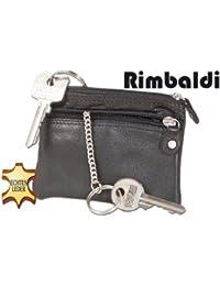 """""""Rimbaldi"""" Doppel-Schlüsseltasche mit großem Extrafach für den Autoschlüssel aus weichem, naturbelassenem Kalbsleder"""