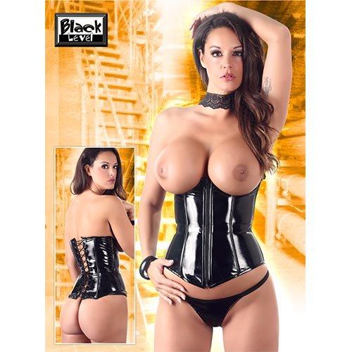 Set di abbigliamento erotico da donna in pelle e latex