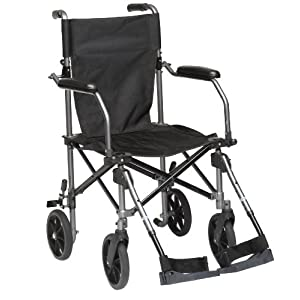 Drive Medical TC005 Travelite Transport-Rollstuhl aus Aluminium, 46 cm