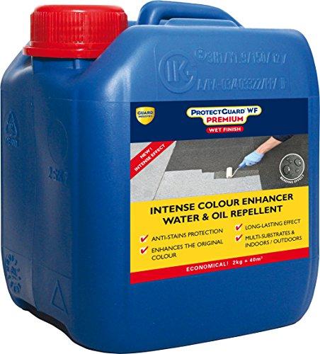 Schutz und Farbe Enhancer für Terrassen, Stein, Marmor, ziegel-protectguard WF Premium-2kg - Color Enhancer