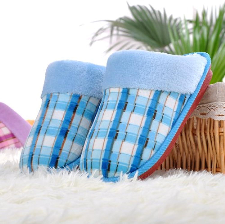 Aemember interiores de estilo Casa Hogar antideslizante, algodón, Zapatillas, zapatos de confinamiento, temporada
