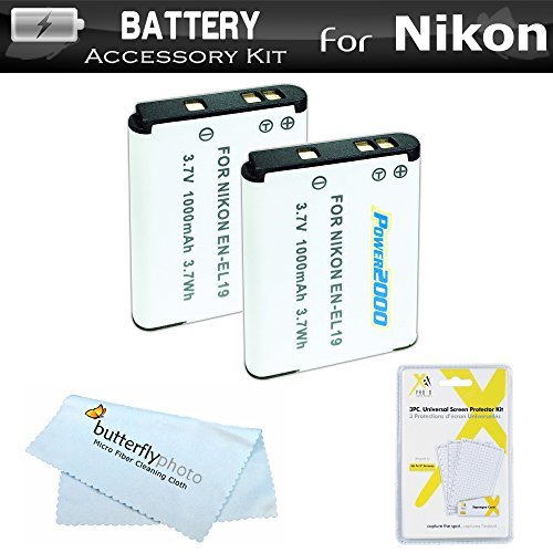 ButterflyPhoto Battery Kit For Nikon Coolpix