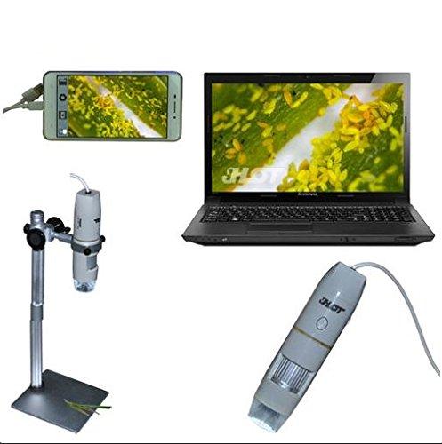 Bangweier portatile microscopio digitale USB 1x ~ 500x Mini microscopio ingrandimento fotocamera con supporto