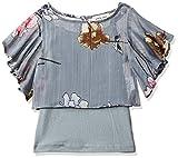 Gini & Jony Baby Girl's Floral Regular Top (121246521367 Glacier Grey(C208)_12M | 9-12 Months)