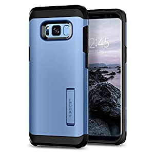 Spigen Tough Armor Galaxy S8 Plus Case with Kickstand and Extreme Heavy Duty Protection and Air Cushion Technology for Galaxy S8 Plus (2017) - Coral Blue