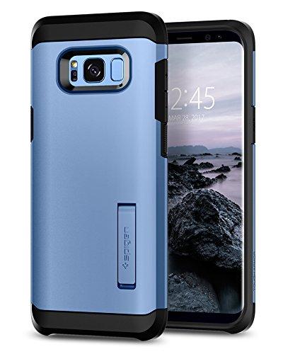 Spigen 565CS21644 Tough Armor für Samsung Galaxy S8 Hülle, Doppelte Schutzschicht Handyhülle für Extrem Fallschutz Schutzhülle Case Blue Coral