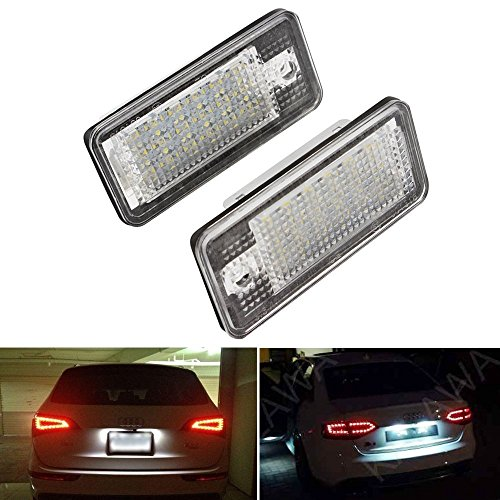 Preisvergleich Produktbild LOWELLTEK Auto LED Kennzeichenbeleuchtung Nummernschilder Licht A4 / S4 / RS4 / A5 / A6 (white)