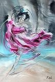 YEATRY Bandiera Domestica,Danzatore 30 X 45 Cm Bandiera Artistica Decorativa della Casa di Balletto di Ballo