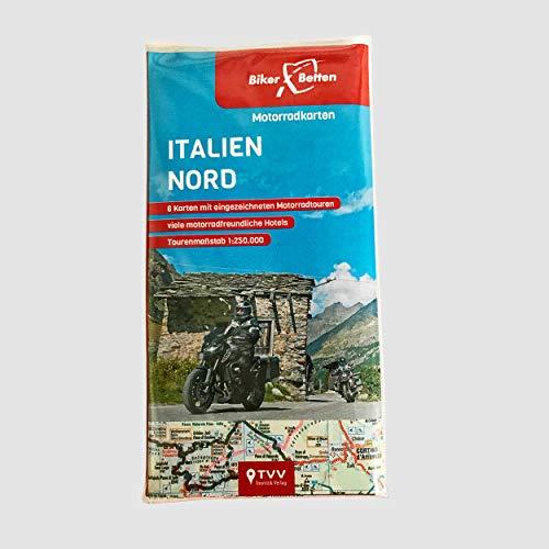 Motorradkarten Set Italien Nord: BikerBetten Tourenkarten 1: 250 000