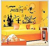 YCRD Wandaufkleber Halloween 3D Wasserdichtes Wand-DIY-Layout Abnehmbare Wohnzimmer Schlafzimmer Hintergrund Dekoration,Bat