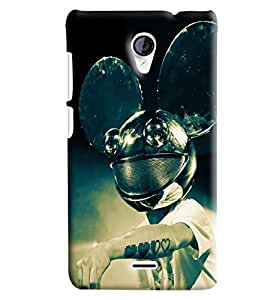 Blue Throat Man With Reindeers Printed Designer Back Cover/Case For Micromax Unite2 (A106)