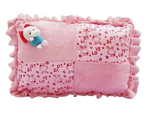 Safe n Cute Baby Rectangular Pillow in Velvet (Pink)- Trusted High Brand Quality / Super Soft Crazy Pillow / For Child Whose Age Is Between (0 to 8 years) / Great for travel (Demanded Item)