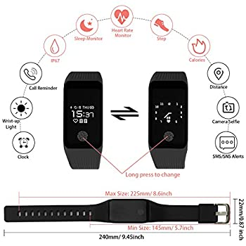 Funbot Fitness Tracker, Activity Tracker Heart Rate Monitor Smart Bracelet Ip67 Waterproof Fitness Watch Sleep Monitor Pedometer Calorie Counter With Replacement Band For Android & Ios 2