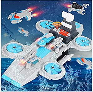 Toys Bhoomi Long Haul Spaceship Carrier Fighter Aircraft Vehicle Playset for Boys & Girls Cars