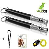 2x Hundepfeife +BONUS: Hunde-clicker