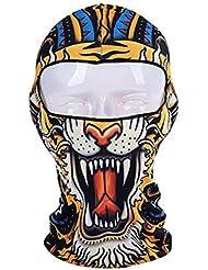 De plein air Fantaisie Cagoule Couvre-chef Masque pour le cyclisme,le ski,le snowboard, Tigre-2