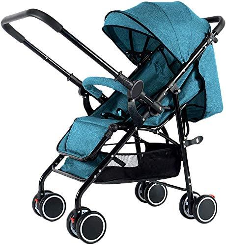 Baby carriage Kinderwagen, Von Geburt An Bis 25 Kg, Kompakt Und Leicht Für Neugeborene, Faltbarer Und Faltbarer Fünfpunktgurt, Flugzeugtauglich, Mit Uv-Schutz, Green B