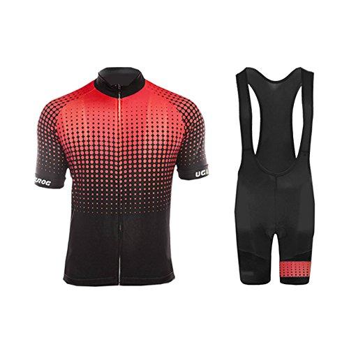 Uglyfrog Sommer Herren Männer Radfahren Trikots & Shirts+Trägerhosen Anzüge with Gel Pad Sport Bekleidung ZD12