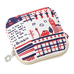 Yinew Cute Coin Purse, Women Girl Zipper Sanitary Pad Organizer Holder Napkin Towel Convenience Bags