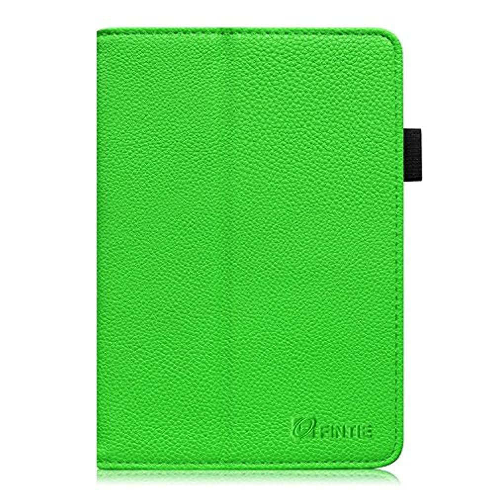 Fintie Amazon Fire HD 7 (4. Generation) Folio Hülle Case - Premium Kunstleder Schutzhülle Tasche Etui mit Ständerfunktion automatischer Schlaf/Wach Funktion (nur geeignet für Amazon Fire HD 7-Inch Tablet 2014 Modell), Grün